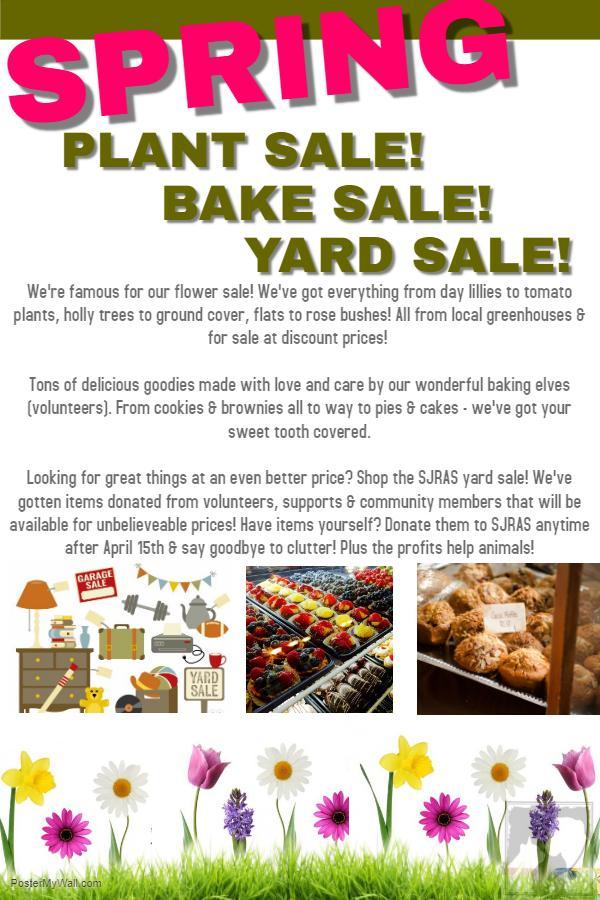 Plant,Bake,Yard Sale @ SJRAS